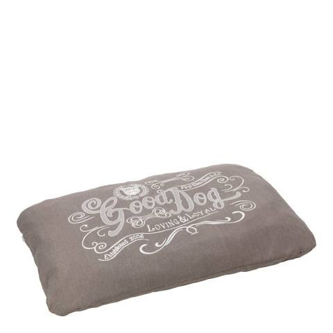 House Of Paws Grey L/XL Good Dog Linen Cushion 107.5x72cm