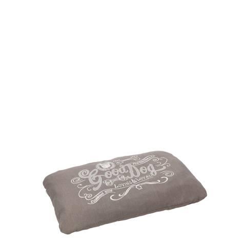 House Of Paws Grey S/M Good Dog Linen Cushion 82x57cm