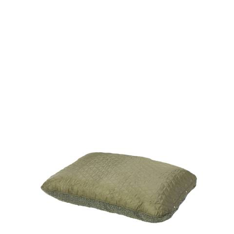 House Of Paws Green S/M Reversible Country Quilt & Berber Fleece Cushion 82x57 cm
