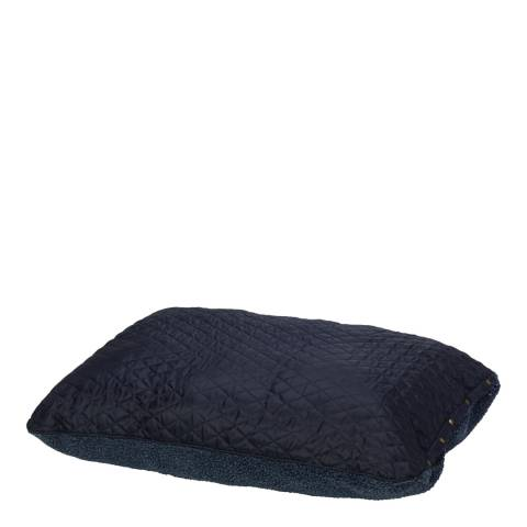 House Of Paws Navy L/XL Reversible Country Quilt & Berber Fleece Cushion 107x72cm
