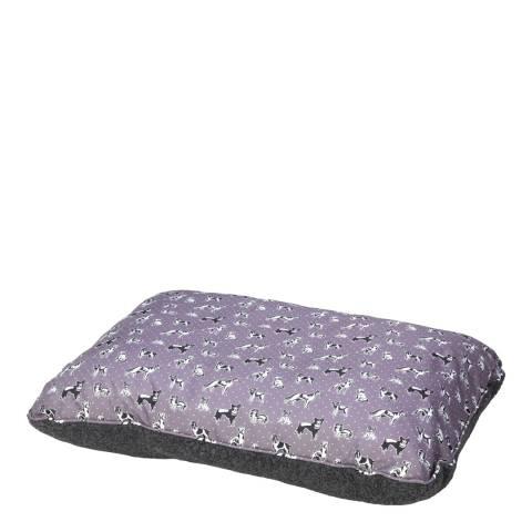 House Of Paws Grey L/XL Polka Dogs Berber Cushion 107x72cm