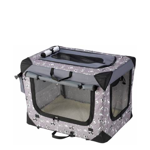 House Of Paws Black Medium Polka Dot Travel Crate 24x17x17inch