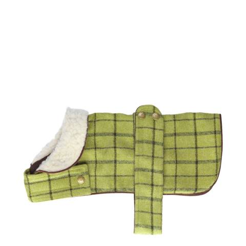 House Of Paws Green M Tweed Jacket 30-35cm
