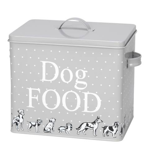 House Of Paws Grey XLarge Polka Dogs Treat Tin