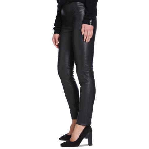 Max and Zac London Black Stretch Leather Leggings