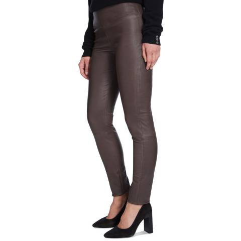 Max and Zac London Mink Stretch Leather Leggings