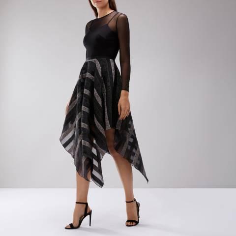 Coast Black Milla Burnout Stripe Dress