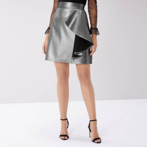 Coast Beth Metallic A-Line Skirt