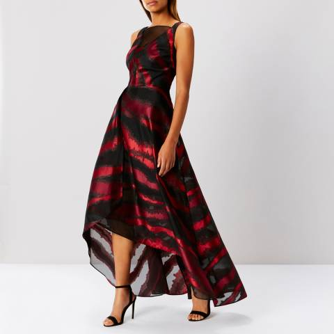 Coast Red Ferrar Printed Maxi Dress