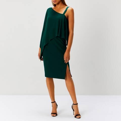 Coast Forest Green rae Drape Dress