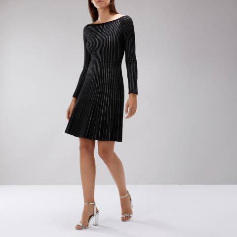 Coast Black Jassy Lurex Dress
