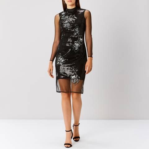 Coast Black Catarina Sequin Artwork Dress
