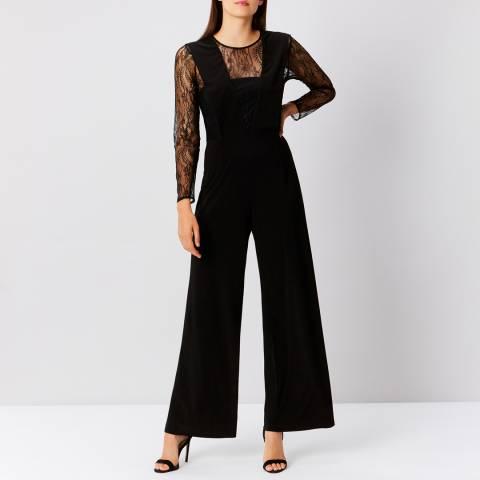 Coast Black Chi Lace Sleeve Jumpsuit