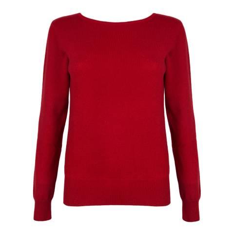 Belinda Robertson Garnet Red Cashmere Isabelle Round Neck Jumper