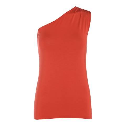 Belinda Robertson Rust Red Milan One Shoulder Top