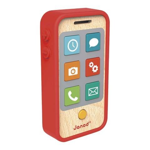 Janod Wooden Play Phone Toy