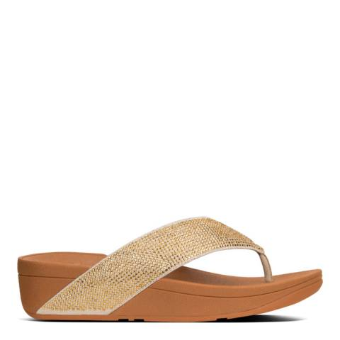 FitFlop Gold Ritzy Toe Thong Sandals