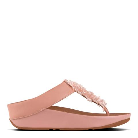 FitFlop Dusky Pink Rumba Toe Thong Sandals