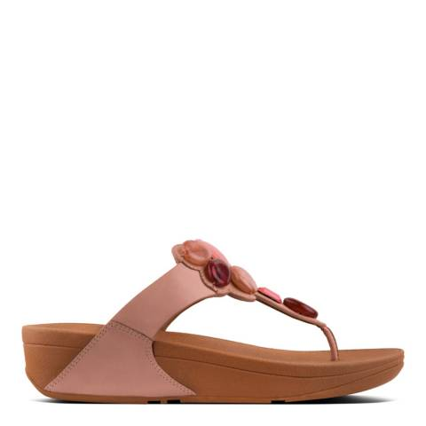 FitFlop Dusky Pink Honeybee Jewelled Sandals