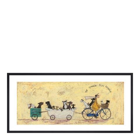 Sam Toft The Doggie Taxi Service Framed Print100x50cm