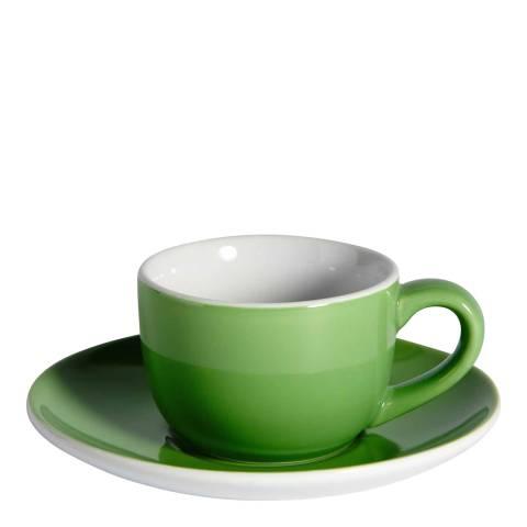 Soho Home Set of 6 Espresso Cups & Saucers, Green