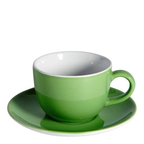 Soho Home Set of 6 Cappuccino Cups & Saucers, Green