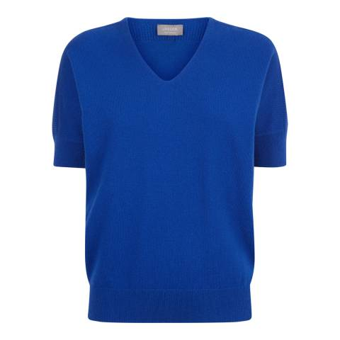 Jaeger Blue Wool Cashmere Tee