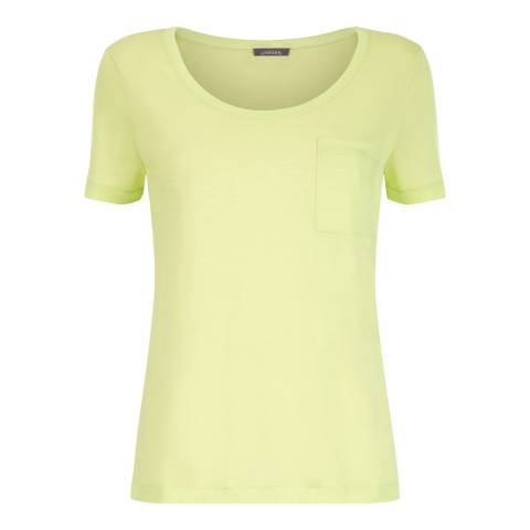 Jaeger Yellow Slouchy Jersey Top