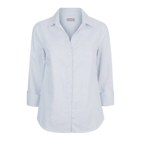 Jaeger Light Blue Fine Stripe Shirt