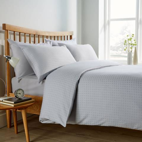 Behrens Micro Check Single Duvet Set, Grey