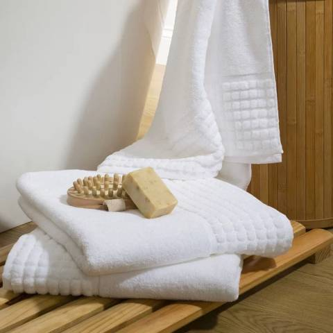 Spa bath towel white brandalley for Home spa brand towels