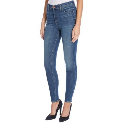 J Brand Identity Blue Maria High Rise Skinny Stretch Jeans