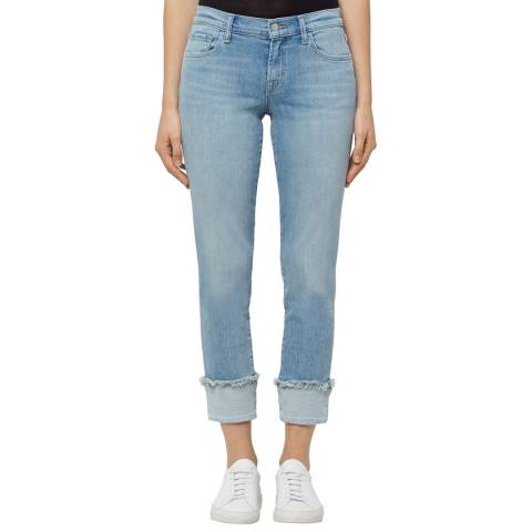 J Brand Arise Blue Sadey Slim Straight Stretch Jeans