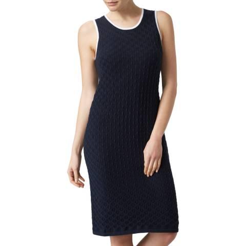 Henri Lloyd Navy Zoe Crochet Knit Dress