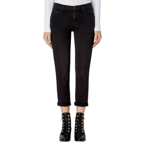 J Brand Black Sadey Slim Straight Stretch Jeans