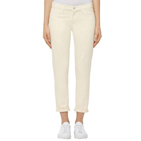J Brand Cream Sadey Slim Straight Jeans