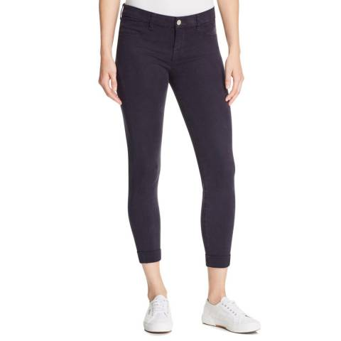 J Brand Dark Navy Anja Mid Rise Cuffed Crop Jeans