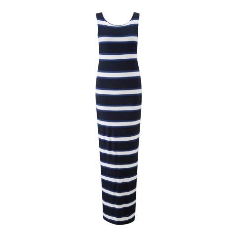 Henri Lloyd Blue Stripe Hope Sleeveless Maxi Dress