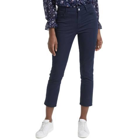 J Brand Navy Ruby Cropped Cigarette Stretch Jeans