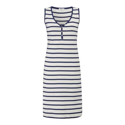 Henri Lloyd White Navy Stripe Caerulean Ribbed Dress