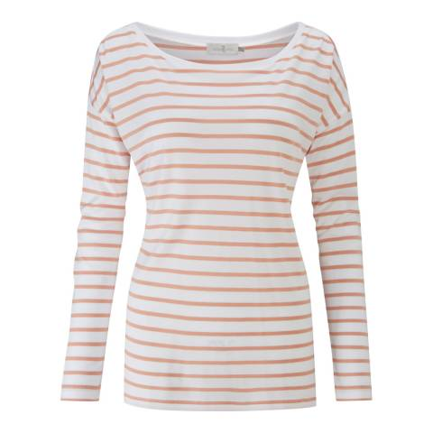 Henri Lloyd White Breanna Striped T Shirt