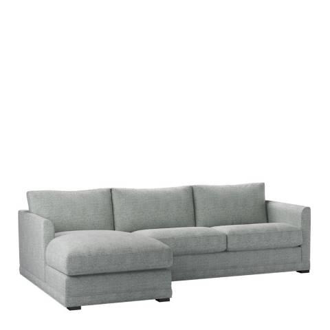 sofa.com Aissa Medium Left Hand Chaise Sofa in Rustic Linen Leaf