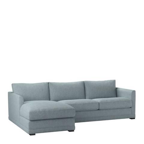 sofa.com Aissa Medium Left Hand Chaise Sofa in Textured Cotton Minty
