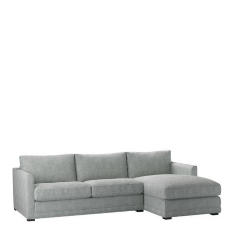 sofa.com Aissa Medium Right Hand Chaise Sofa in Rustic Linen Leaf