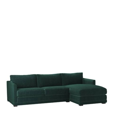 sofa.com Aissa Medium Right Hand Chaise Sofa in Spruce Vintage Chenille