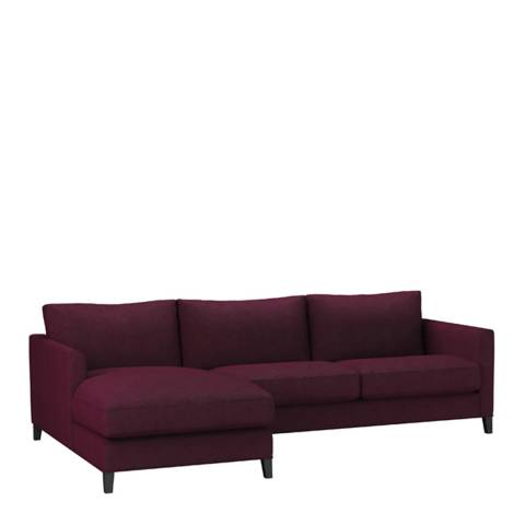 sofa.com Izzy Medium Left Hand Chaise Sofa in Oxblood Soft Wool
