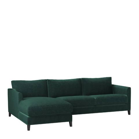 sofa.com Izzy Medium Left Hand Chaise Sofa in Spruce Vintage Chenille