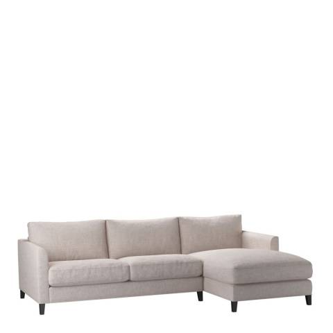 sofa.com Izzy Medium Right Hand Chaise Sofa in Chelsea Linen- Petal