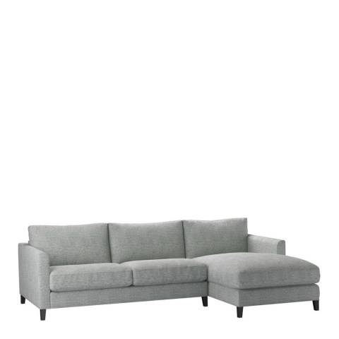 sofa.com Izzy Medium Right Hand Chaise Sofa in Rustic Linen Leaf