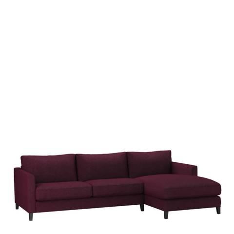 sofa.com Izzy Medium Right Hand Chaise Sofa in Oxblood Soft Wool